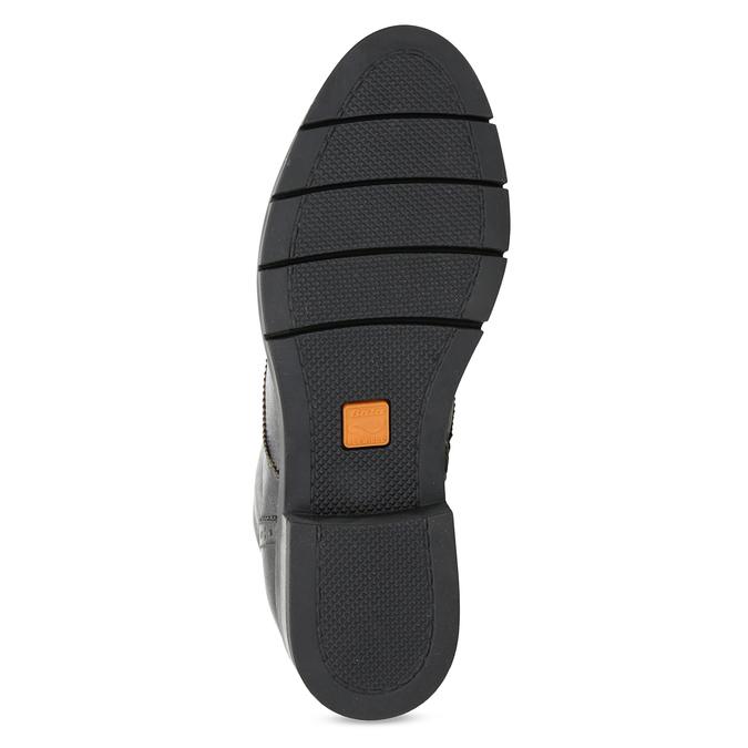 Dámská kotníčková obuv kožená metalická flexible, černá, 596-6695 - 18