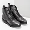 Dámská kotníčková obuv kožená metalická flexible, černá, 596-6695 - 26