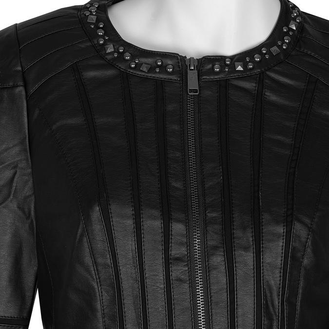 Černá dámská bunda s prošíváním bata, černá, 971-6227 - 16