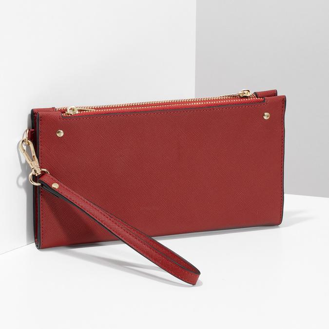 Dámská červená peněženka s řemínkem bata, červená, 941-5217 - 17