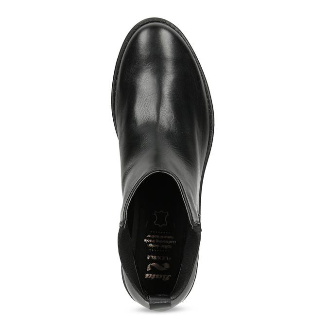 Kožené dámské Chelsea černé flexible, černá, 594-6667 - 17