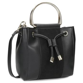 Dámská černá kabelka s kovovými uchy bata, černá, 961-6891 - 13