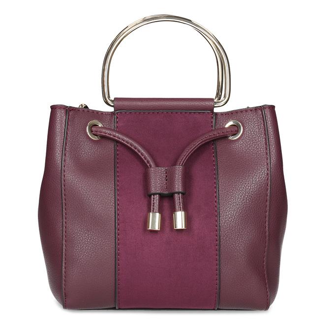 Vínová kabelka s kovovými uchy bata, červená, 961-5891 - 26