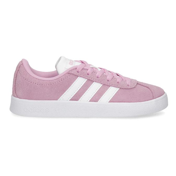 Dětské tenisky z broušené kůže růžové adidas, růžová, 303-5212 - 19