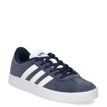 Dětské tenisky z broušené kůže šedé adidas, modrá, 303-9212 - 13