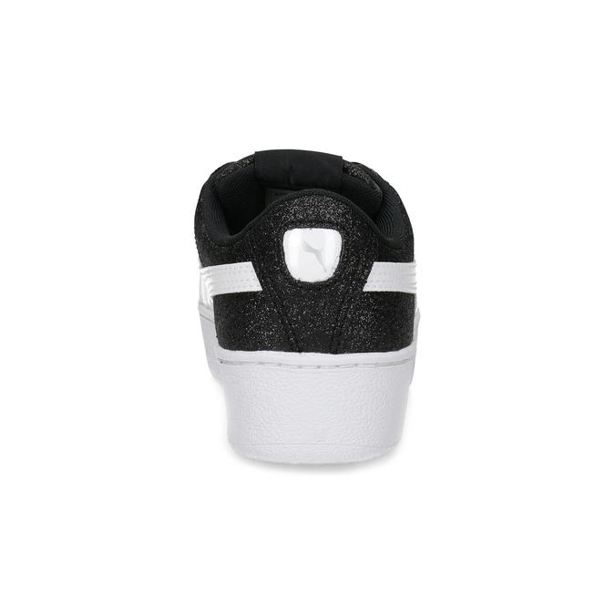 Dětské třpytivé tenisky na flatformě černé puma, černá, 401-6392 - 15