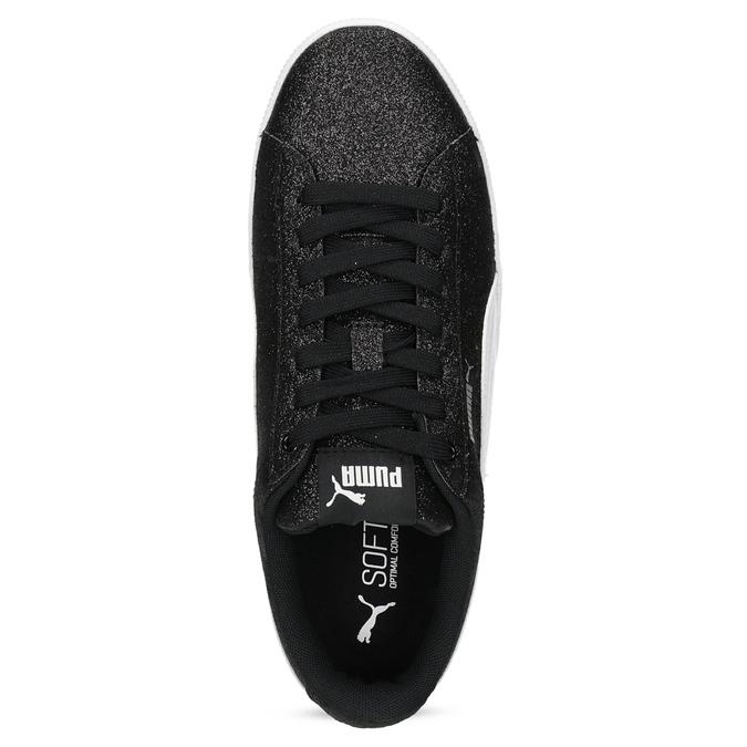 Dětské třpytivé tenisky na flatformě černé puma, černá, 401-6392 - 17