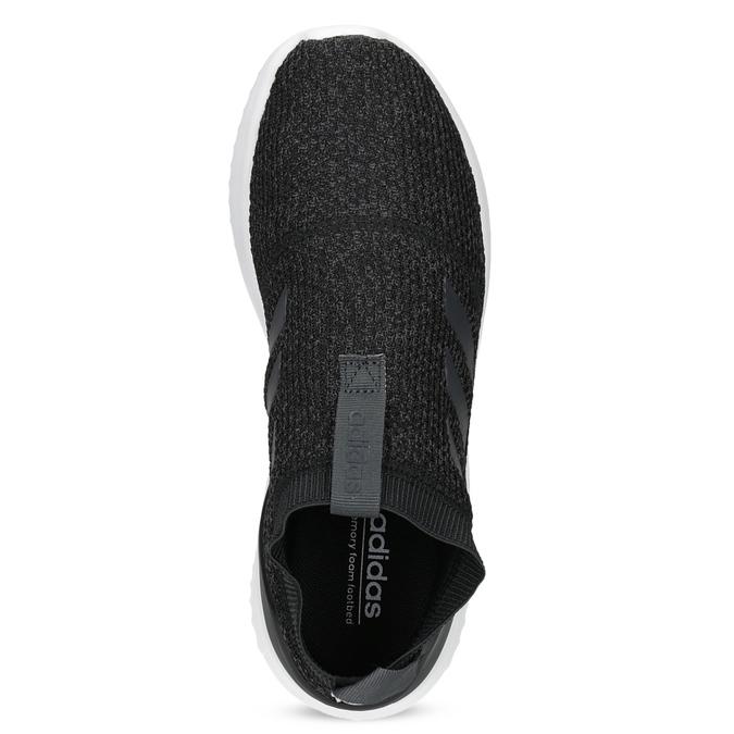 Dámské sportovní slip-on z úpletu černé adidas, černá, 509-6128 - 17