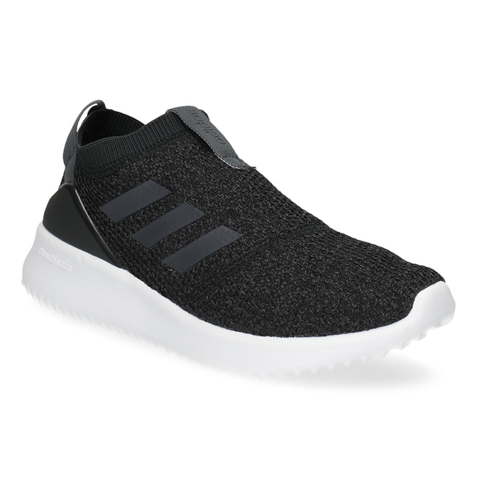 Dámské sportovní slip-on z úpletu černé adidas, černá, 509-6128 - 13