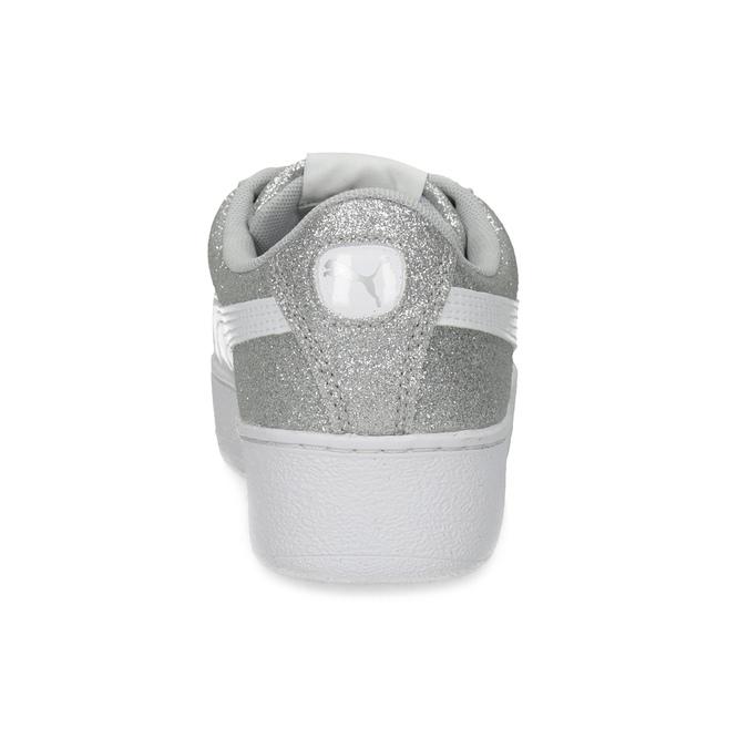 Dětské třpytivé tenisky na flatformě puma, šedá, 401-2392 - 15