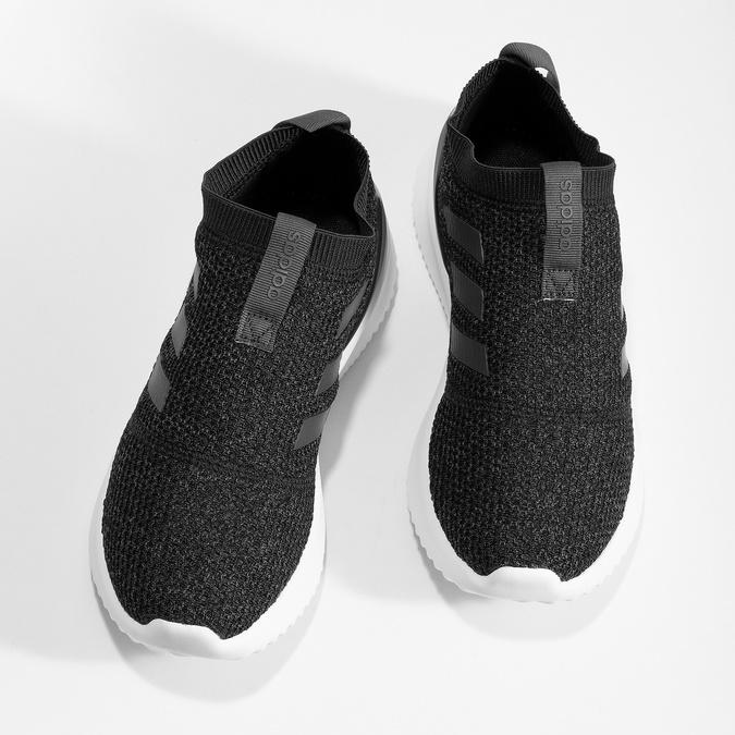 Dámské sportovní slip-on z úpletu černé adidas, černá, 509-6128 - 16