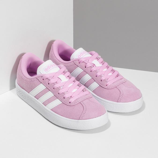 Dětské tenisky z broušené kůže růžové adidas, růžová, 303-5212 - 26