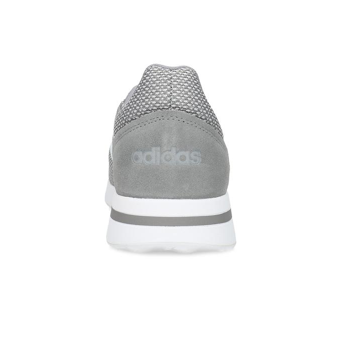 Pánské šedé tenisky s bílými detaily adidas, šedá, 809-2163 - 15