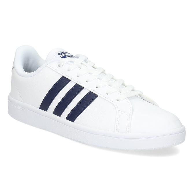 Pánské bílé ležérní tenisky adidas, bílá, modrá, 801-9378 - 13