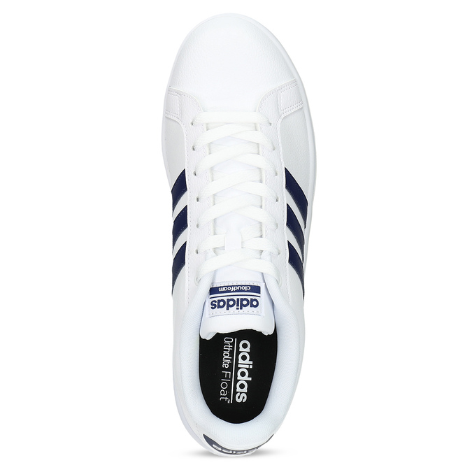 Pánské bílé ležérní tenisky adidas, bílá, modrá, 801-9378 - 17