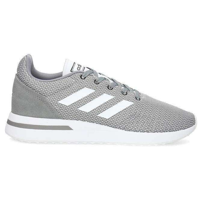 Pánské šedé tenisky s bílými detaily adidas, šedá, 809-2163 - 19