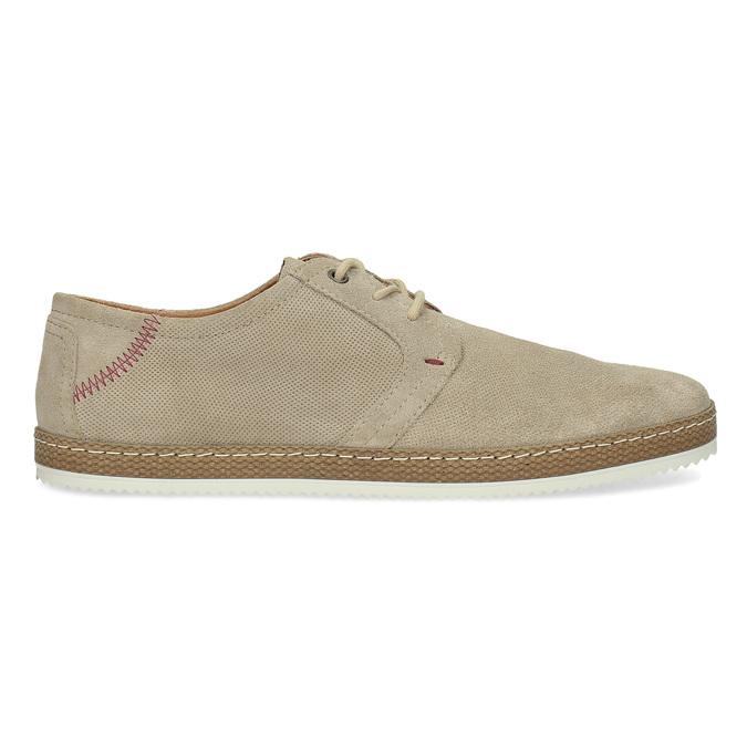 Pánské kožené tenisky s perforací béžové bata, béžová, 823-8617 - 19