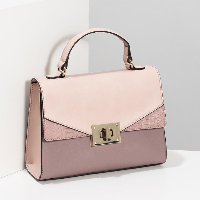 Starorůžová dámská kabelka bata-red-label, růžová, 961-9892 - 17