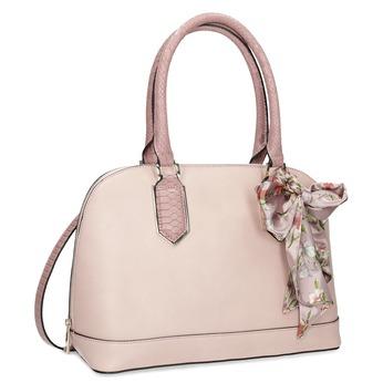 Starorůžová kabelka s podélným zipem bata-red-label, růžová, 961-9900 - 13
