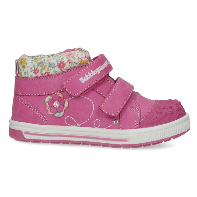 Růžová kotníčková obuv na suché zipy bubblegummers, 121-5618 - 19