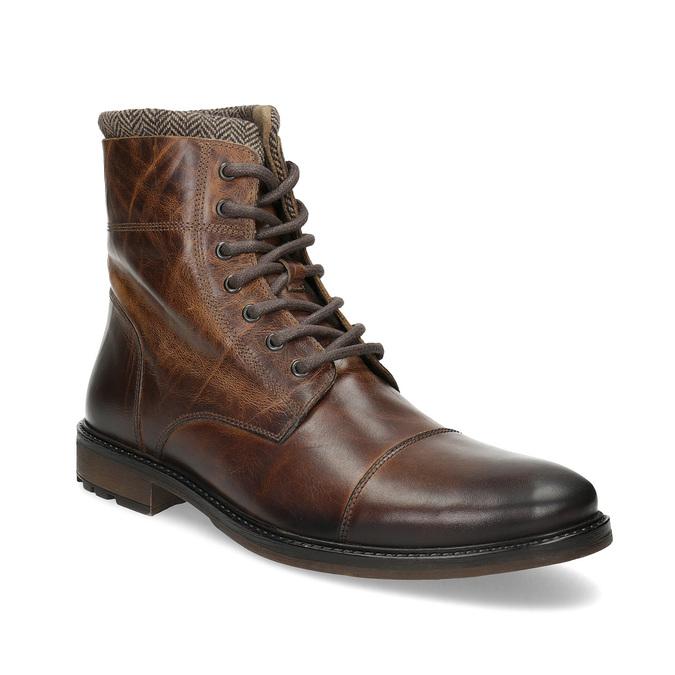 7fc9bd3450 Baťa Kožená zimní kotníčková obuv pánská - Neformální