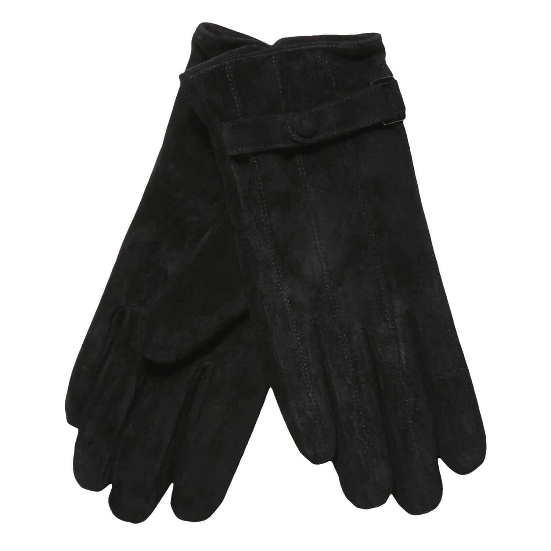 Kožené dámské rukavice s páskem