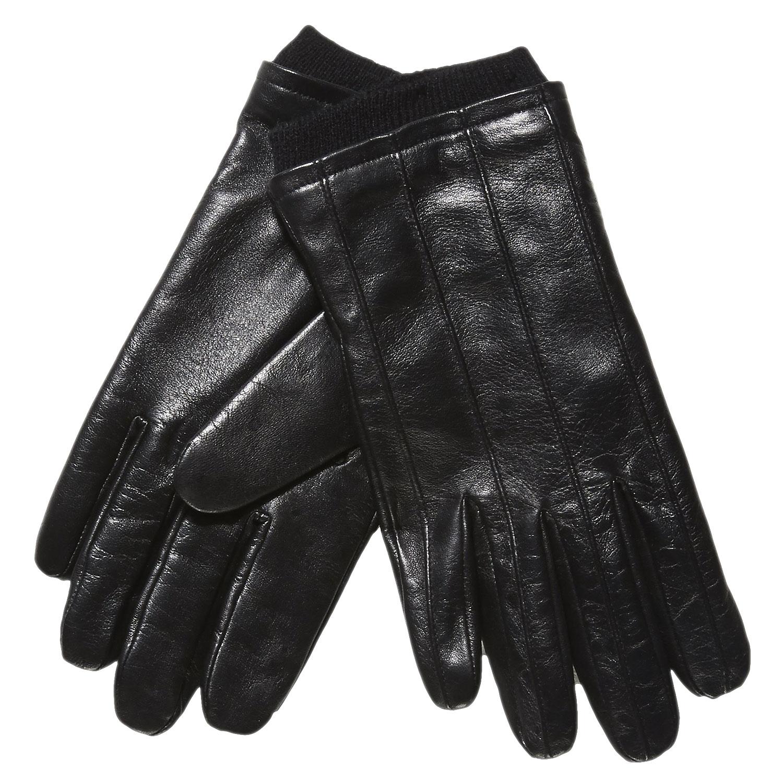 Kožené rukavice s úpletem