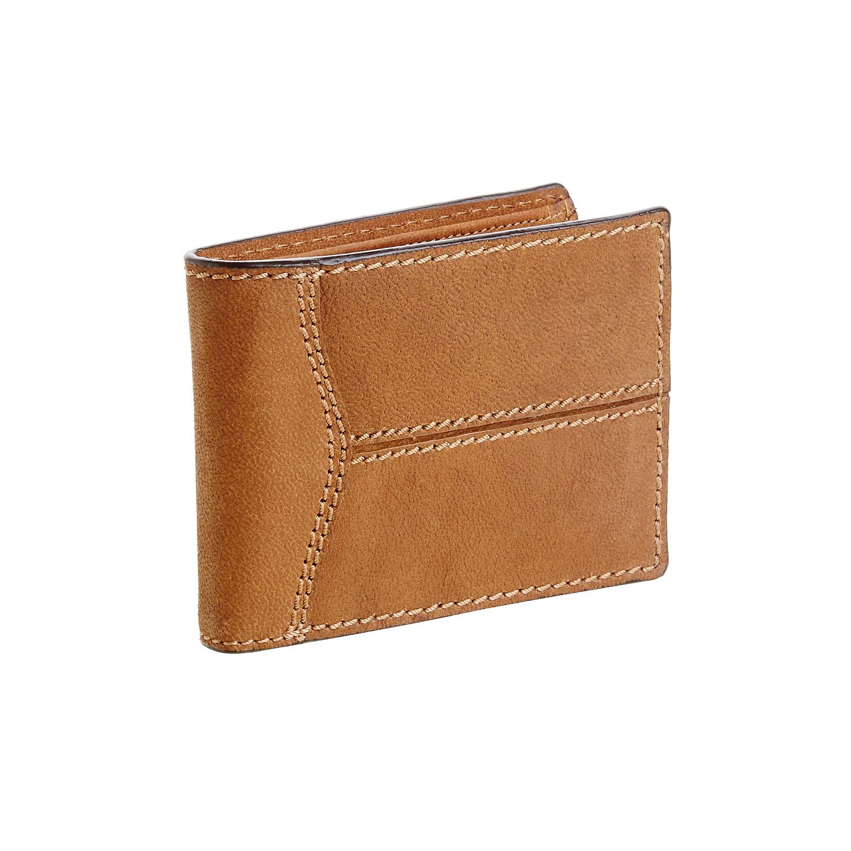 Pánská kožená peněženka s prošíváním
