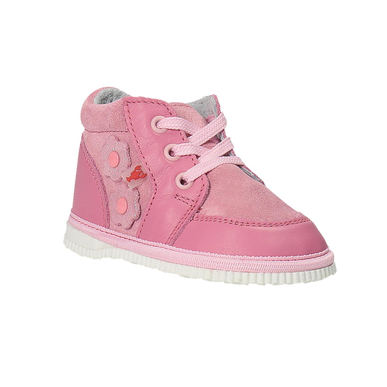 Dívčí kožená domácí obuv