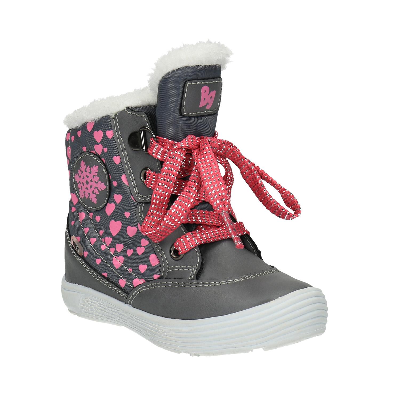 Dětská zimní obuv se srdíčky