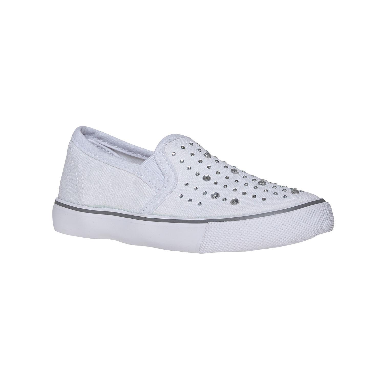 Dívčí Slip on boty s kamínky