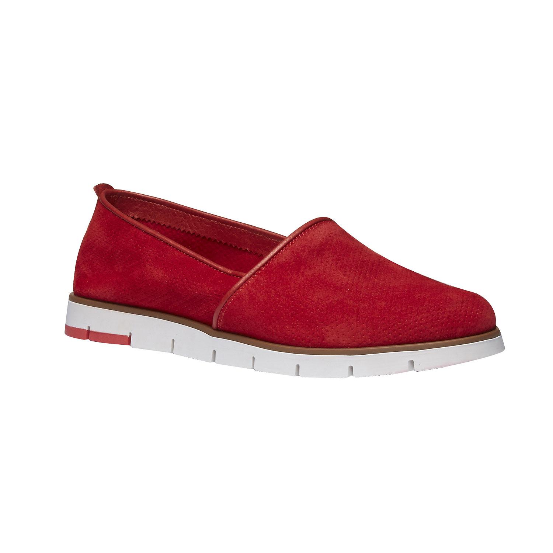 Skórzane buty Slip-on z perforacją - 5135200