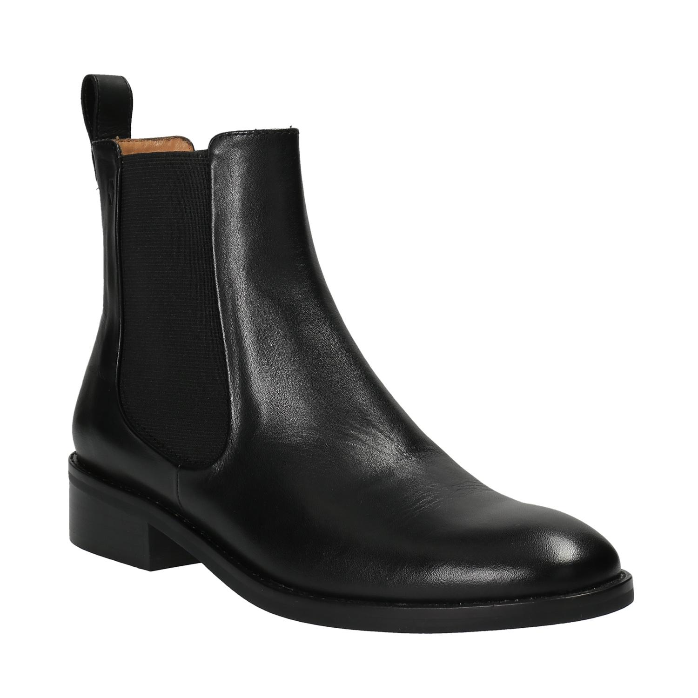 Černé kožené Chelsea Boots
