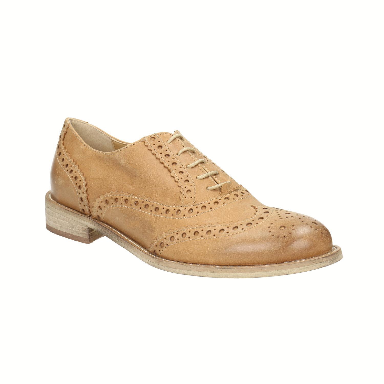 Skórzane buty Oxford ze zdobieniem typu Brogue - 5243482