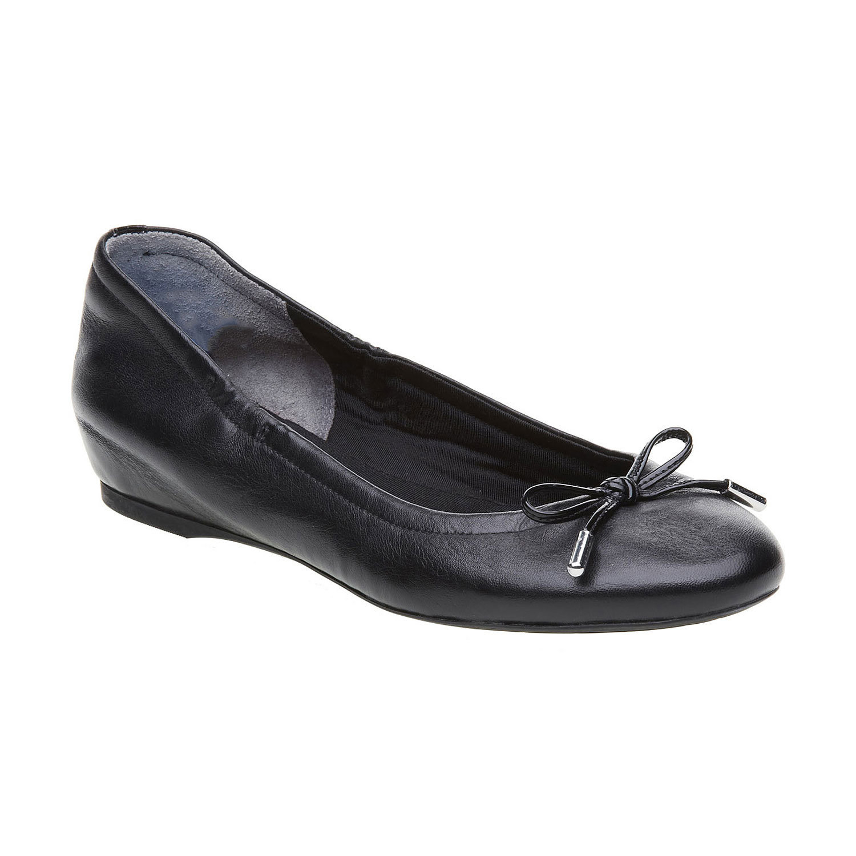 Czarne skórzane baleriny - 5246121