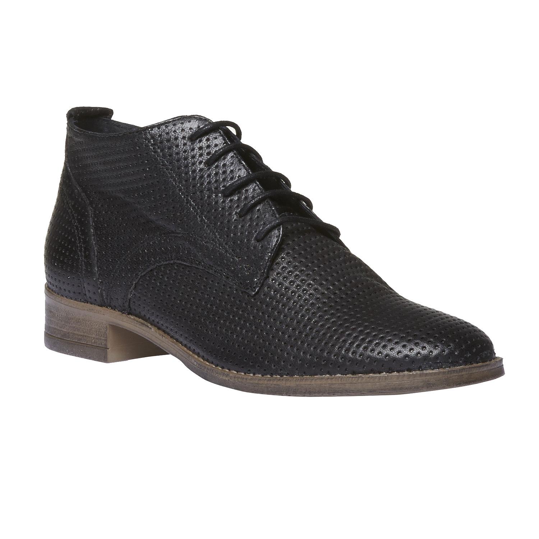 Dámské kožené kotníčkové boty