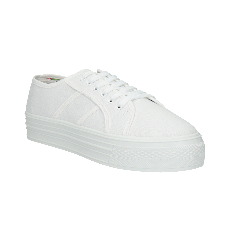 Białe damskie tenisówki - 5291630
