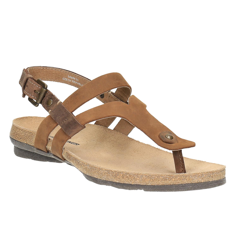 Damskie skórzane sandały - 5664101