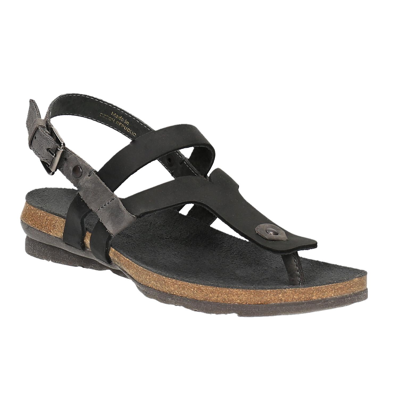 Damskie skórzane sandały - 5666101