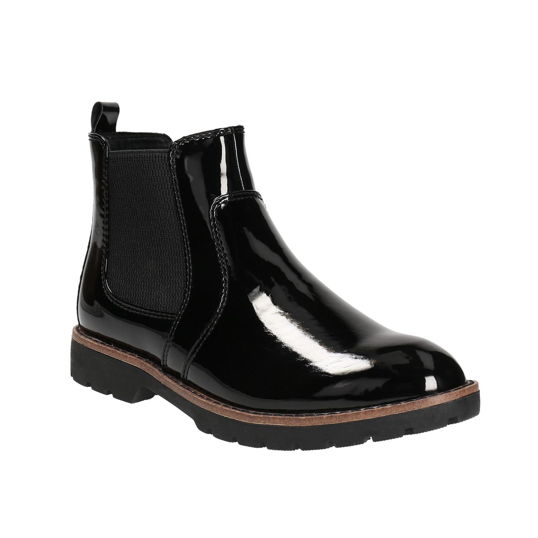 Lakované Chelsoa Boots na výraznej podošve