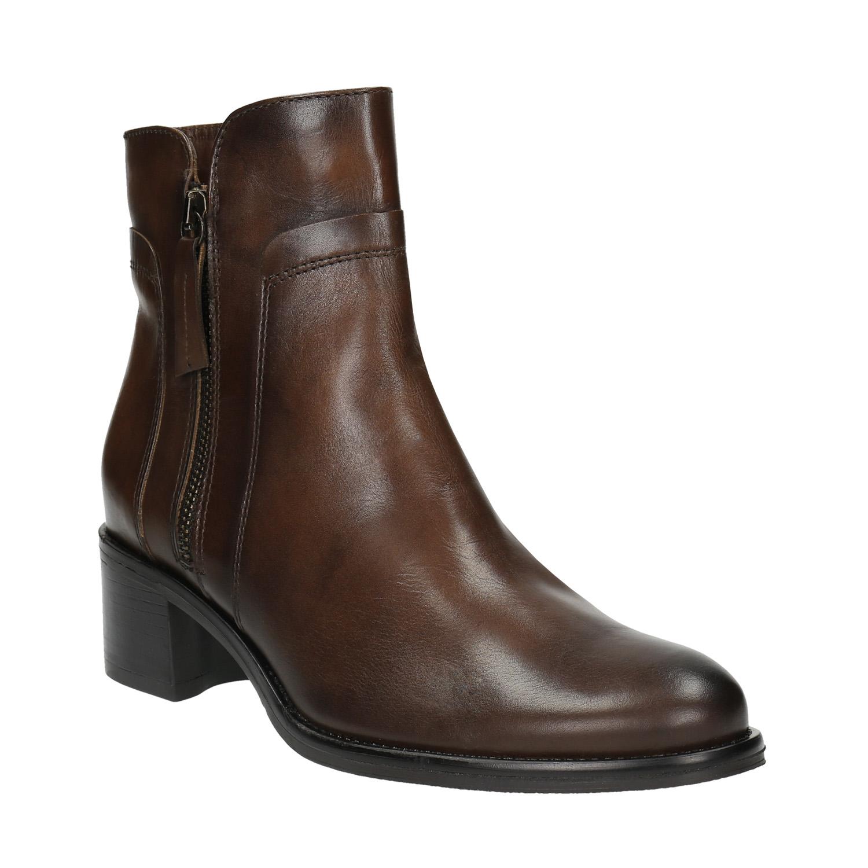 Buty ze skóry za kostkę z suwakami - 6944600