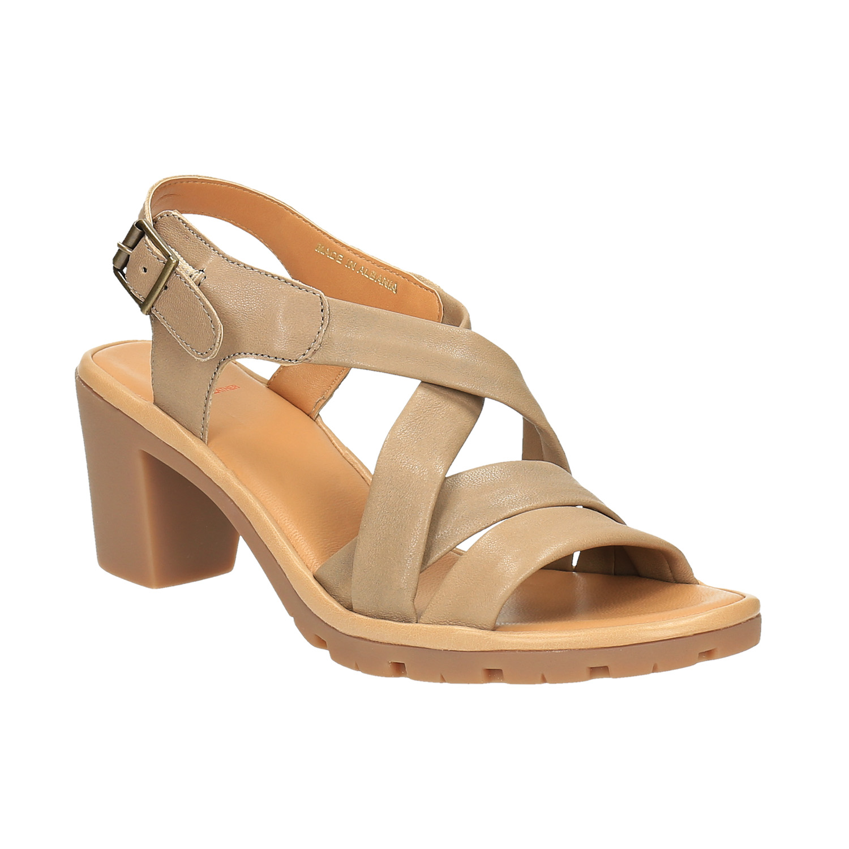 Damskie skórzane sandały - 7648538