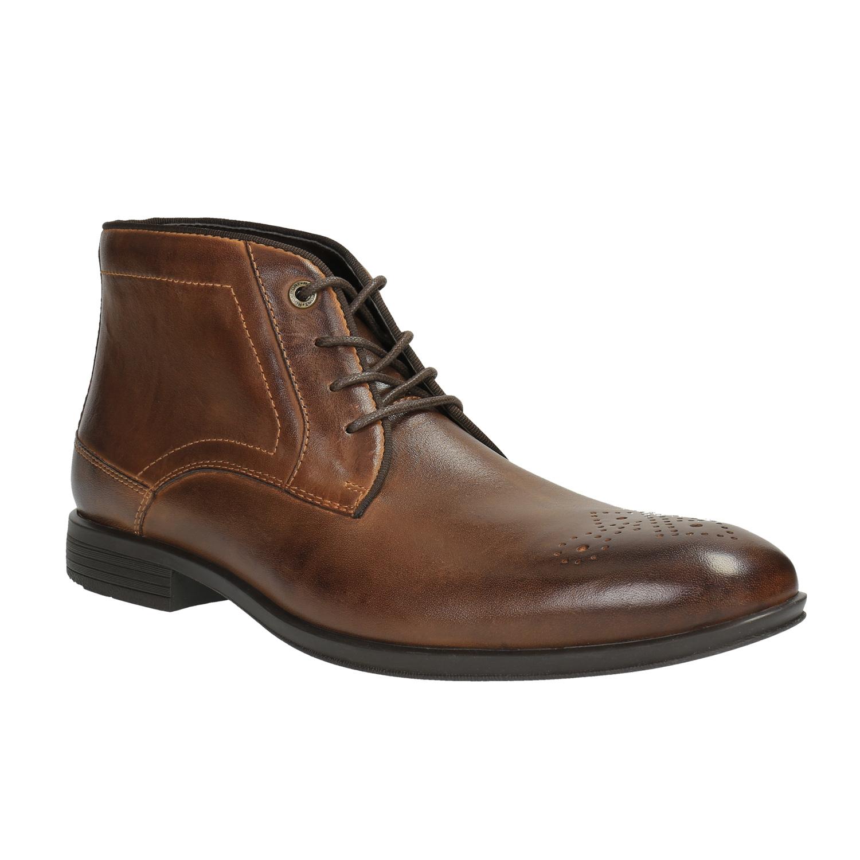 Pánská kotníčková obuv kožená