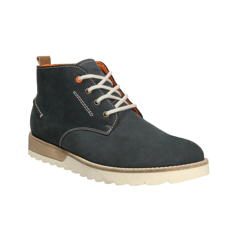 Męskie skórzane buty Chukka Boots - 8469629