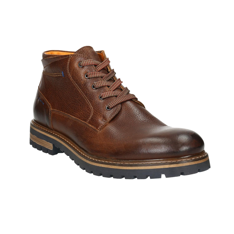 Męskie skórzane buty zimowe - 8943672