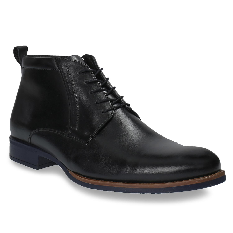 Skórzane ocieplane buty za kostkę - 8946679