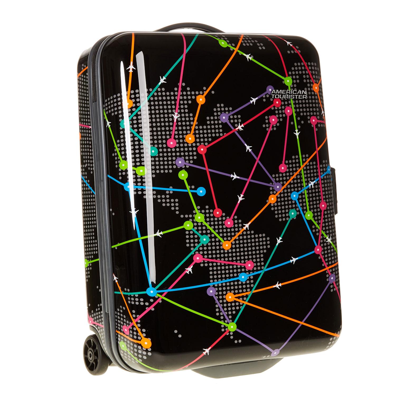 Skořepinový kufr s barevným potiskem