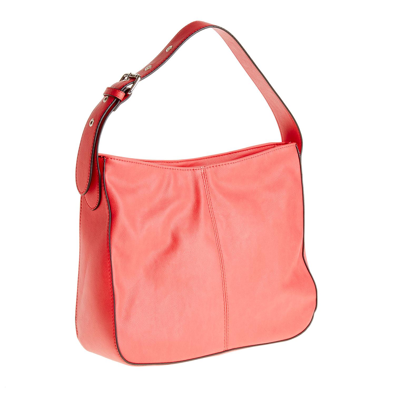 Červená kabelka s nastavitelným uchem