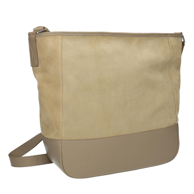 Kožená kabelka s nastavitelným popruhem