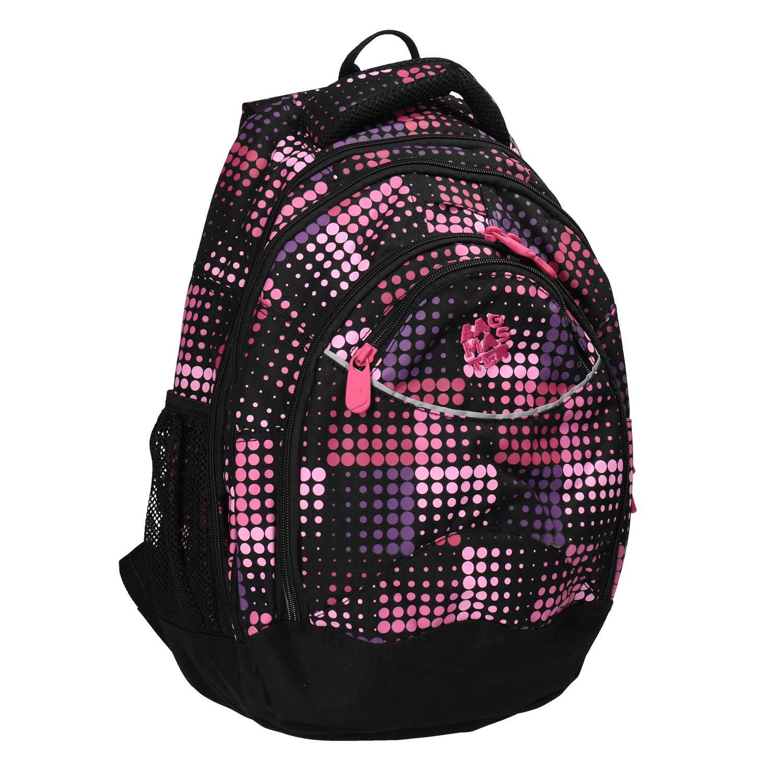 Dívčí školní batoh s puntíky